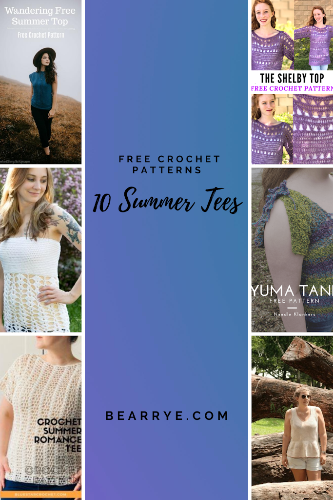 Summer Tee Free Crochet Round up