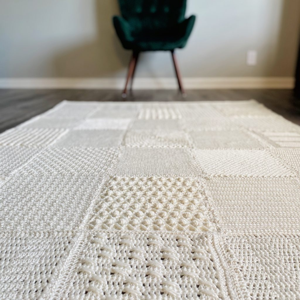 Textured Crochet  Blanket
