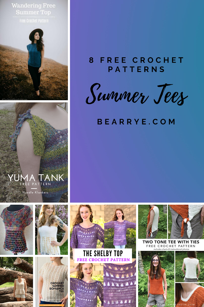 Summer Tees Crochet Pattern Roundup
