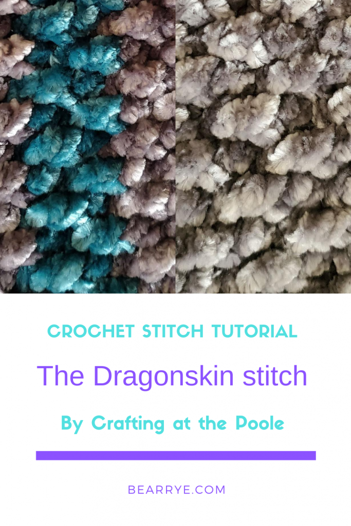 DragonSkin Crochet Stitch Tutorial Pinterest Pin